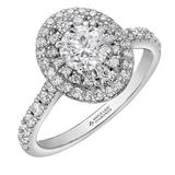 Maple Leaf Diamonds 18ct White Gold Diamond Halo Ring