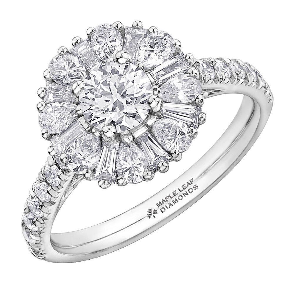 Maple Leaf Diamonds 18ct White Gold Diamond Ring