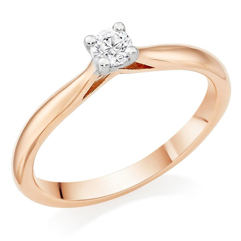 9ct Rose Gold Diamond Solitaire Ring