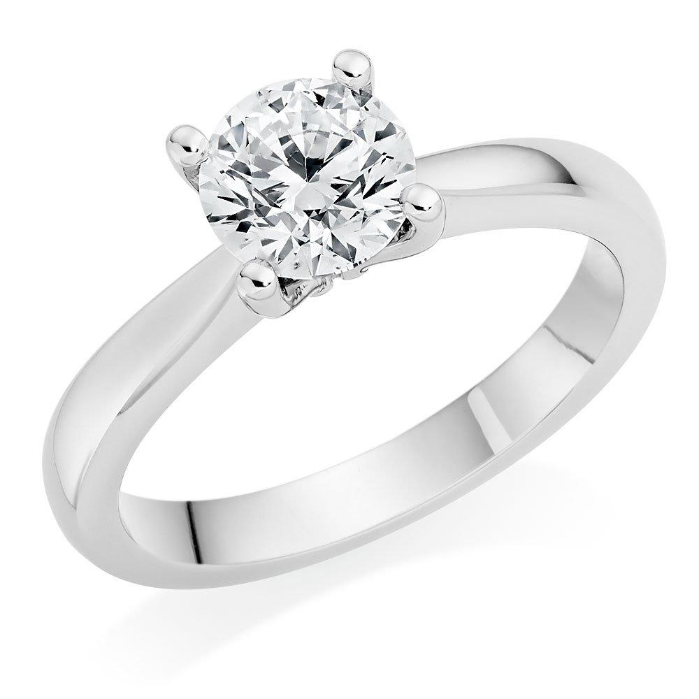 Once by Beaverbrooks Platinum Diamond Solitaire Ring