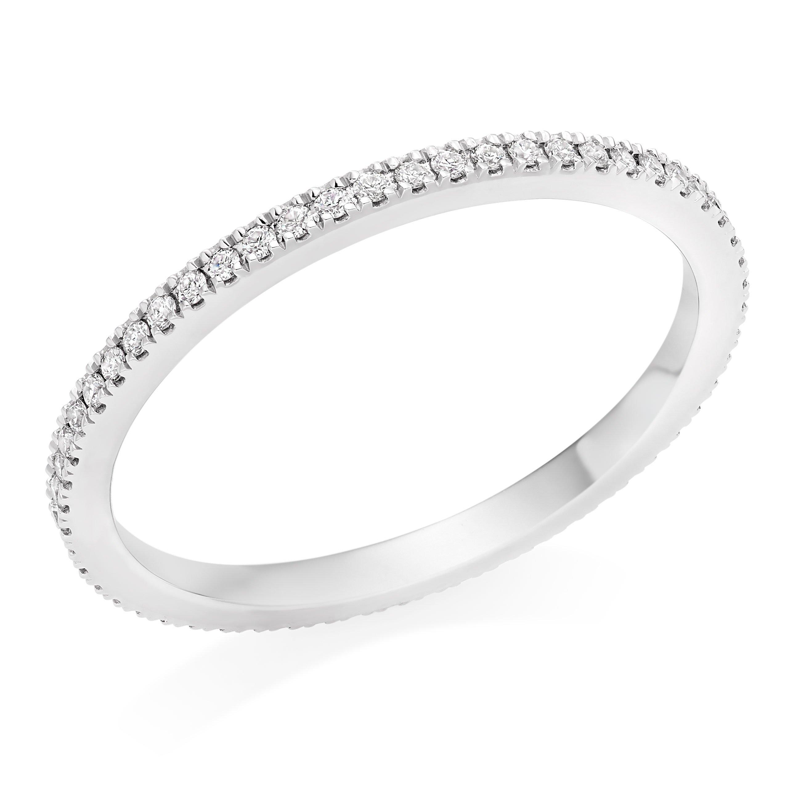 Hearts On Fire Platinum Diamond Eternity Ring