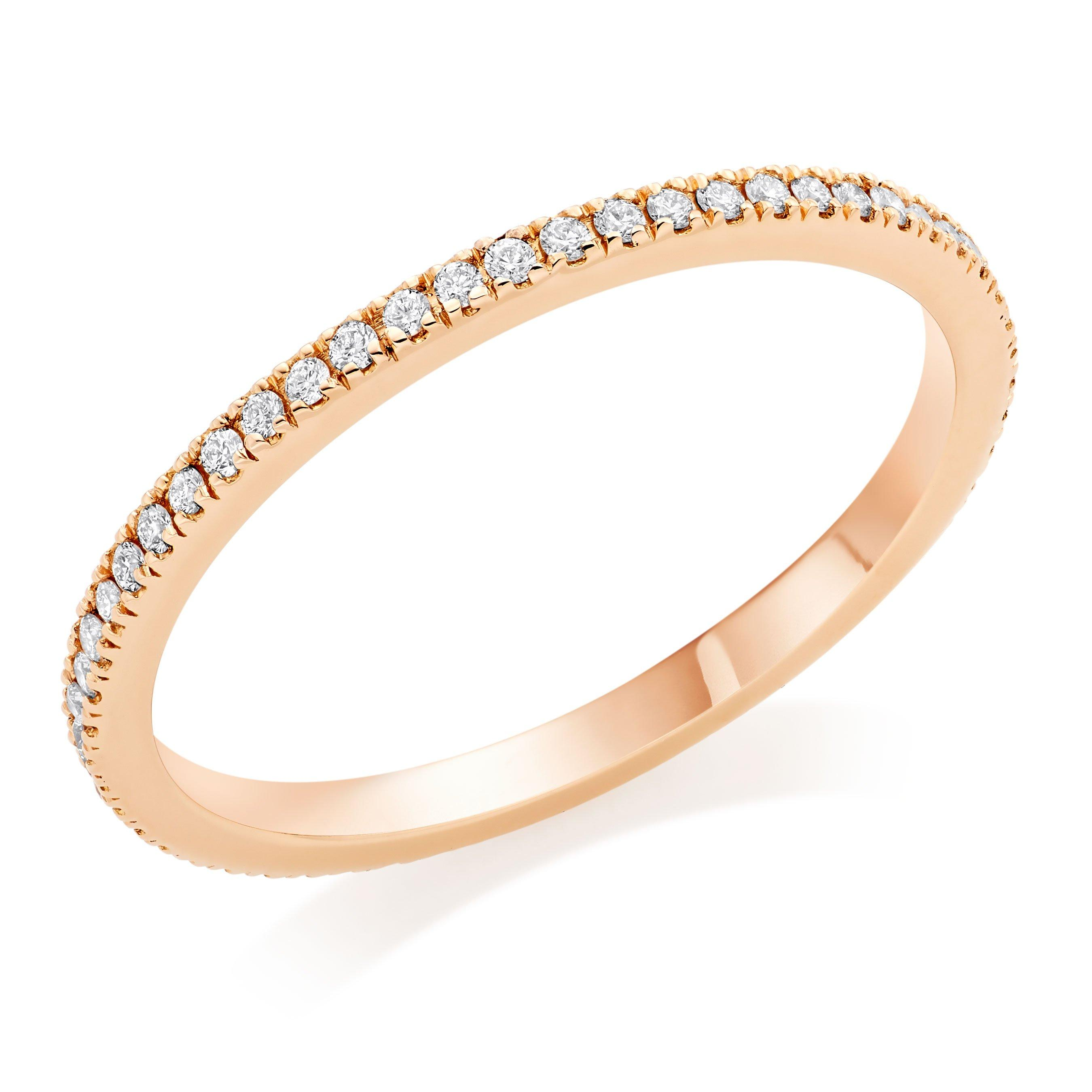 Hearts On Fire 18ct Rose Gold Diamond Eternity Ring