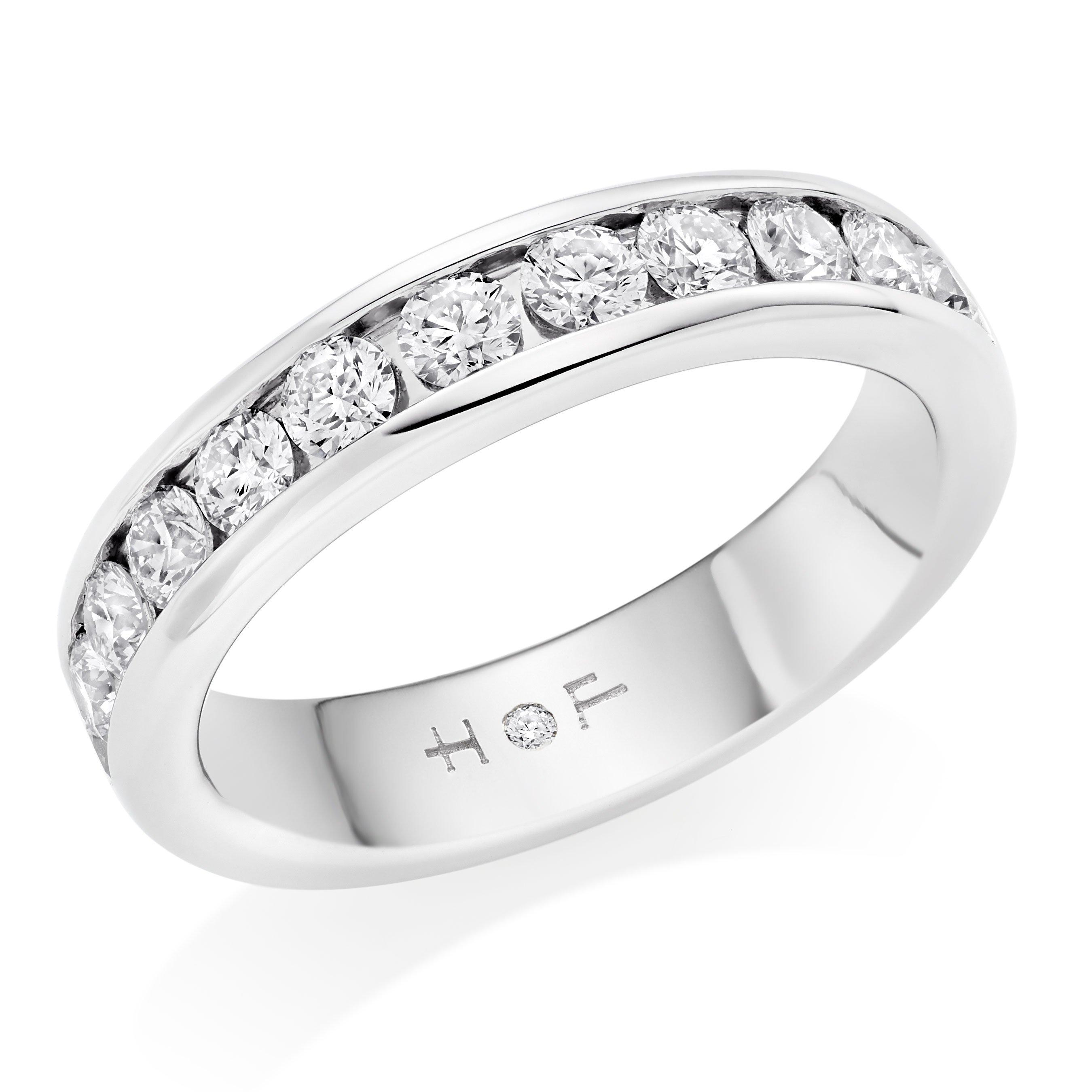Hearts On Fire Platinum Diamond Half Eternity Ring