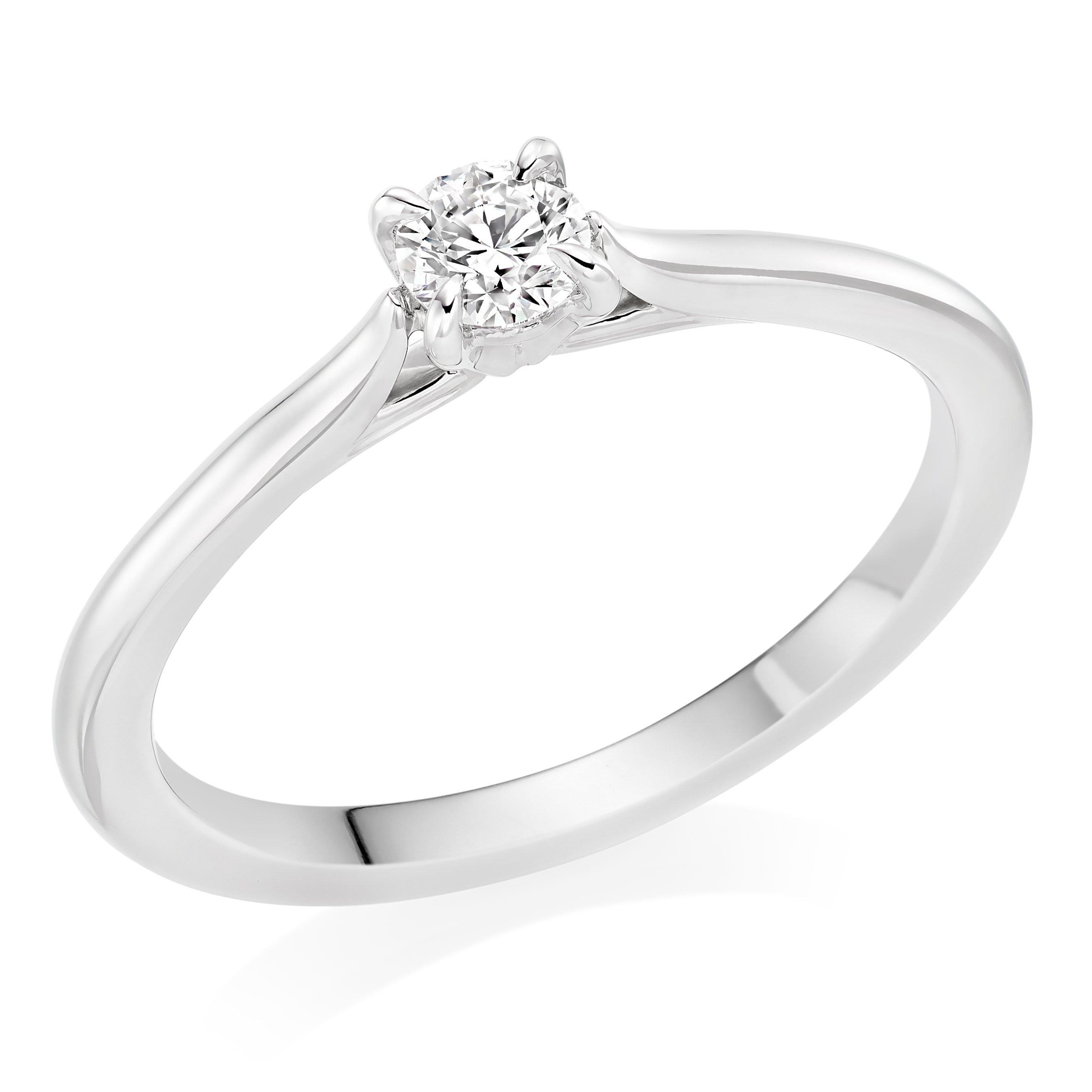 Hearts On Fire Platinum Diamond Solitaire Ring