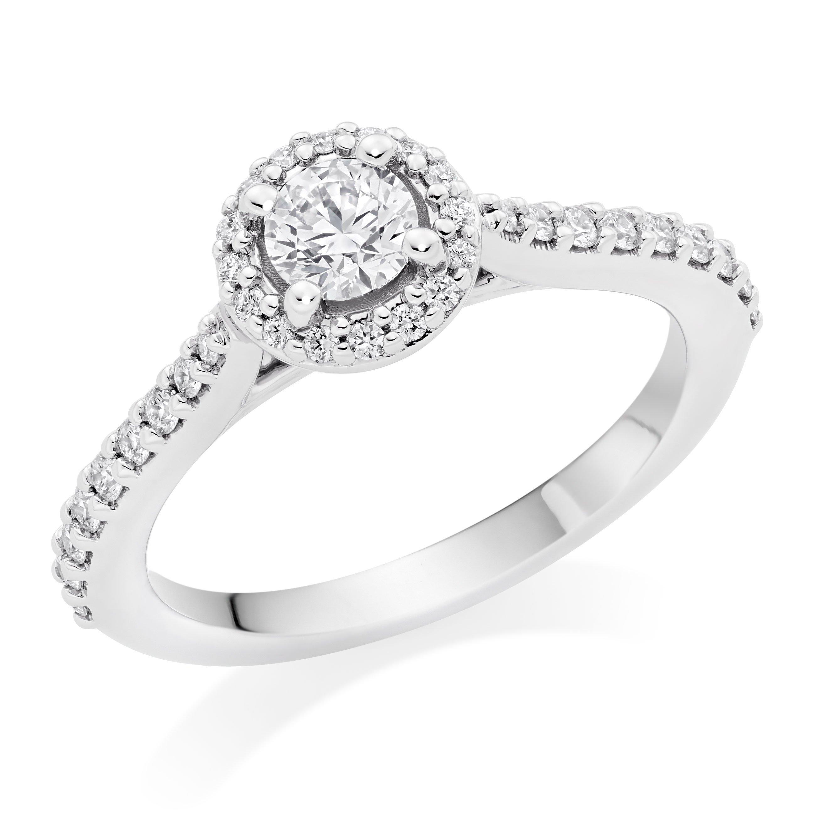 Hearts On Fire Platinum Diamond Halo Ring