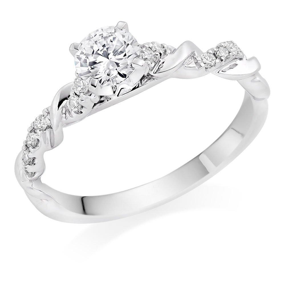 Entwine Platinum Diamond Ring
