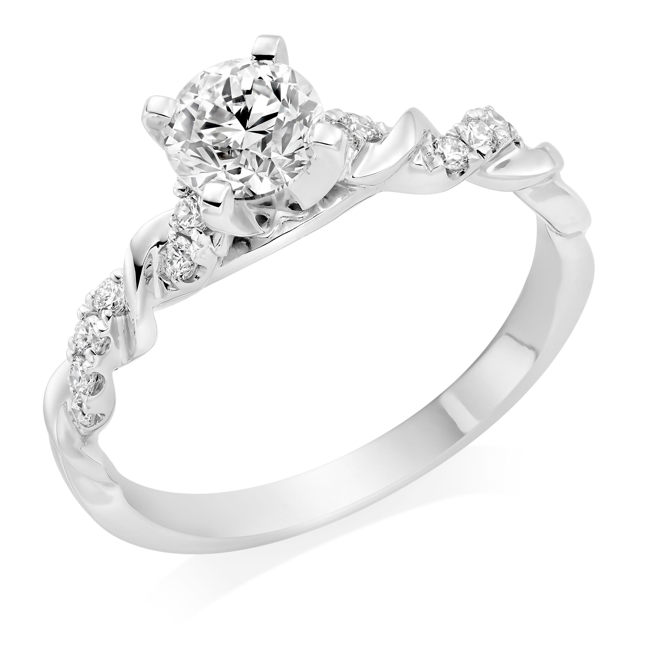 Entwine Platinum Diamond Solitaire Ring