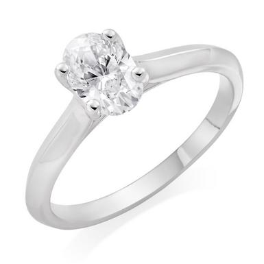Royal Asscher Platinum Diamond Oval Ring