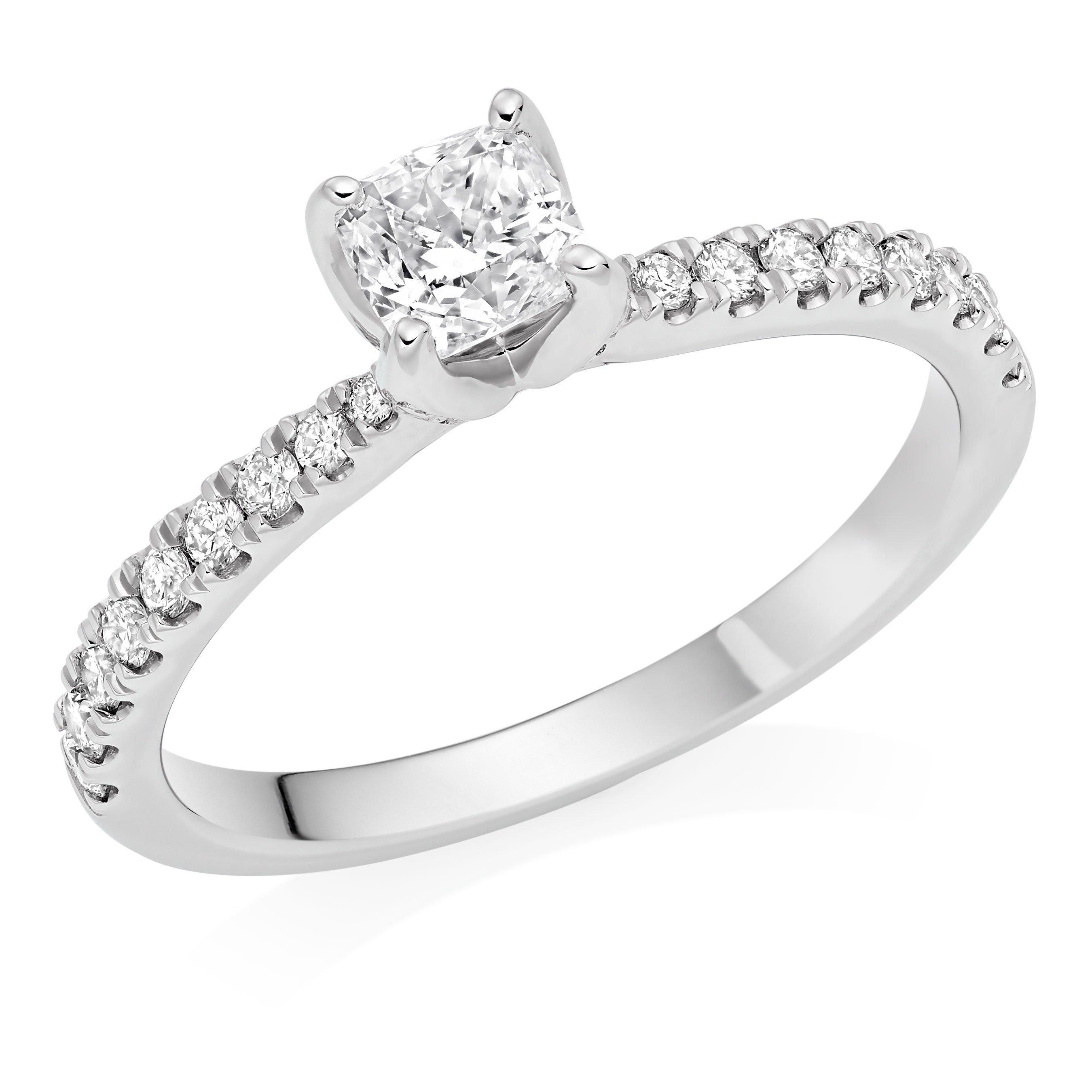 Royal Asscher GuineverePlatinum Diamond Royal Asscher Cushion Cut Solitaire Ring