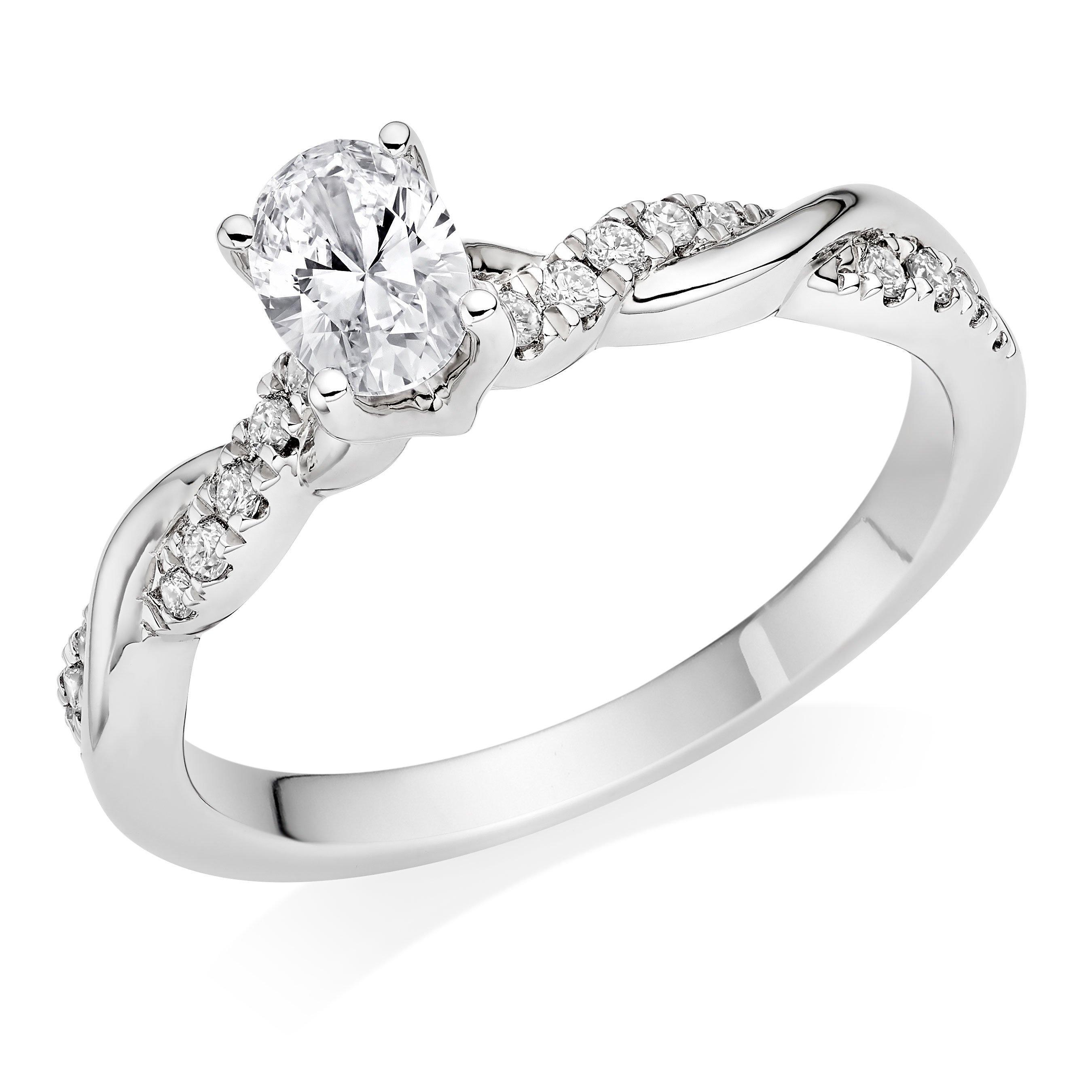 Royal Asscher LetiziaPlatinum Diamond Royal Asscher Oval Cut Solitaire Ring