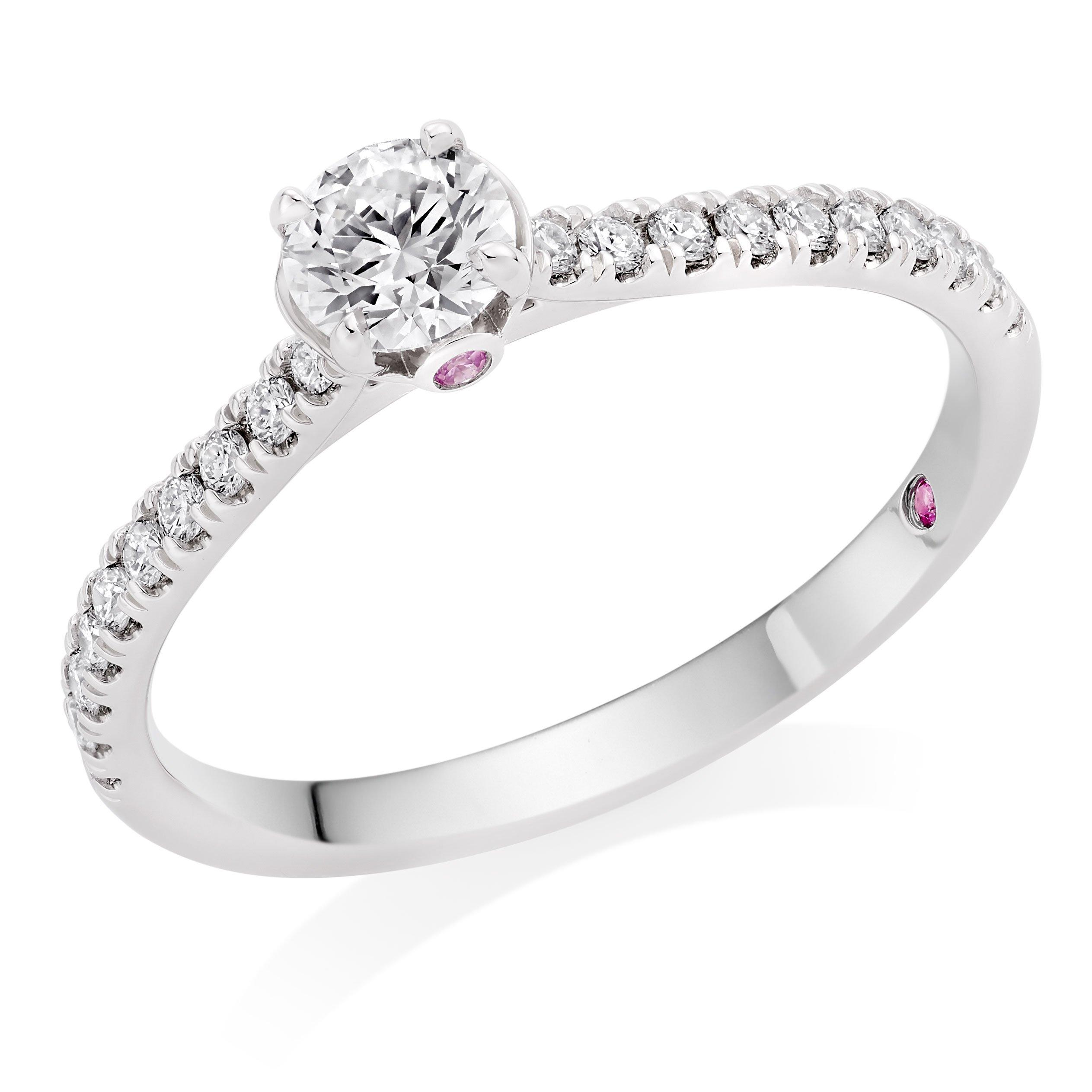Hearts On Fire Hayley Paige Sloane Platinum Diamond Solitaire Ring