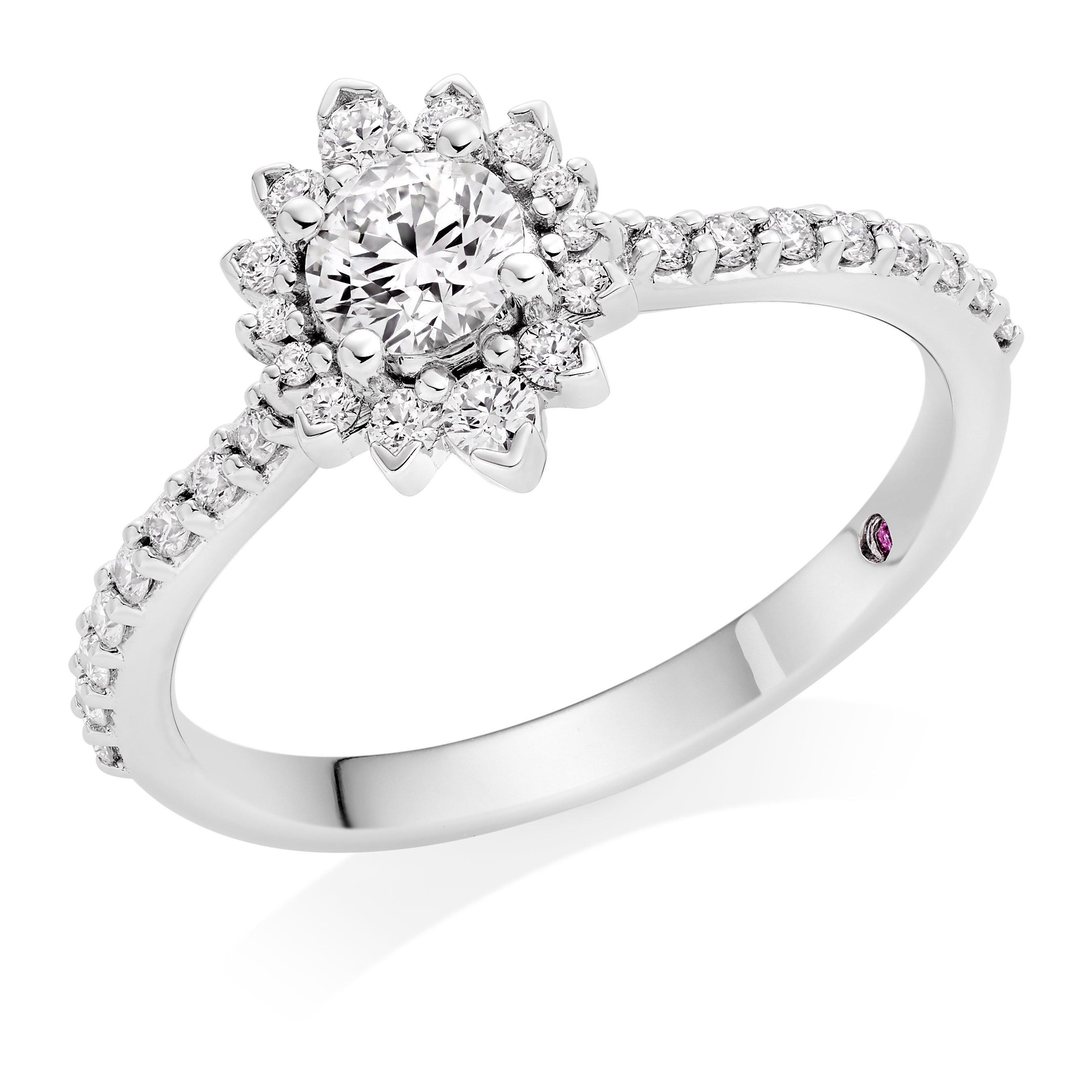 Hearts On Fire Hayley Paige Behati Platinum Diamond Halo Ring