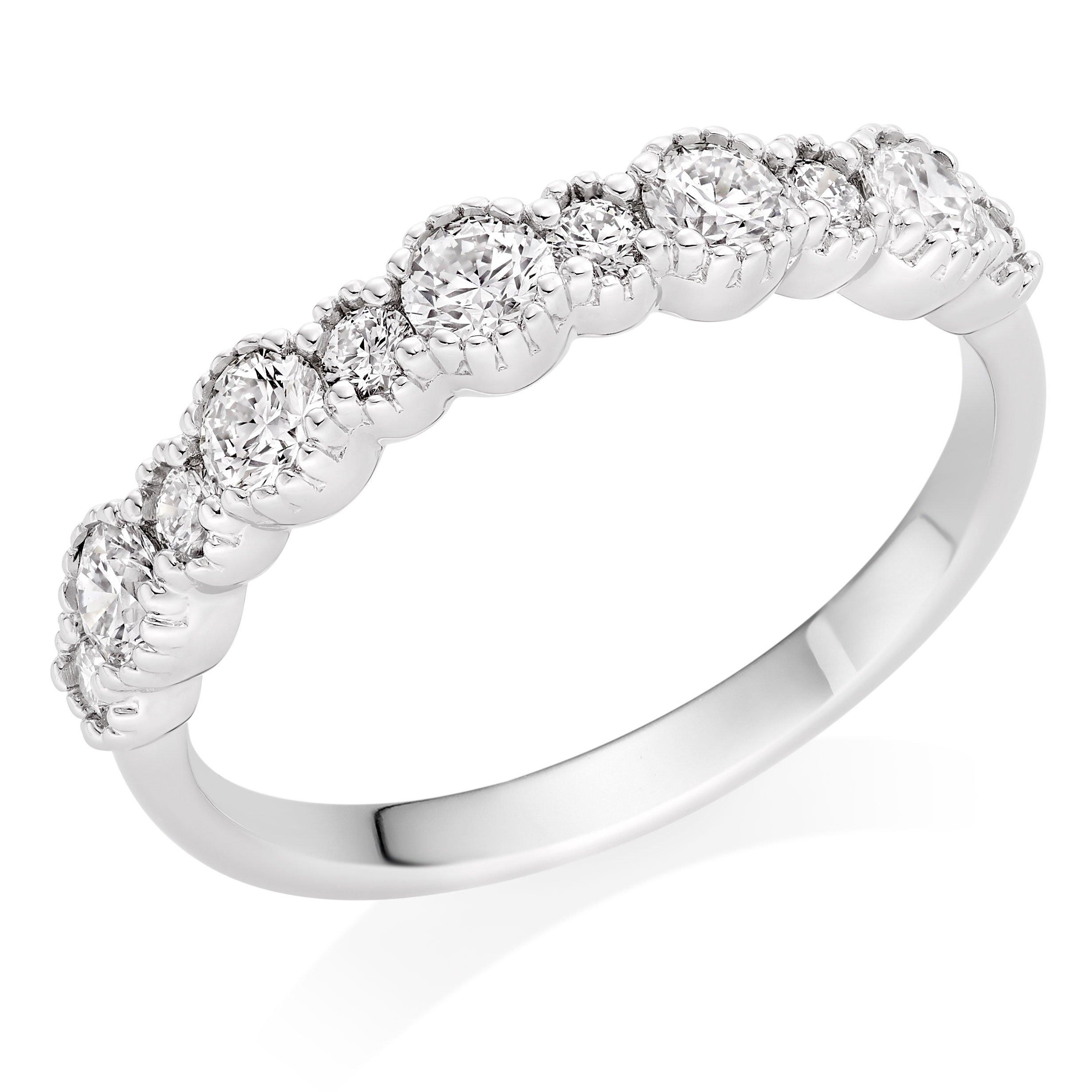 Hearts On Fire Hayley Paige Behati Platinum Diamond Eternity Ring