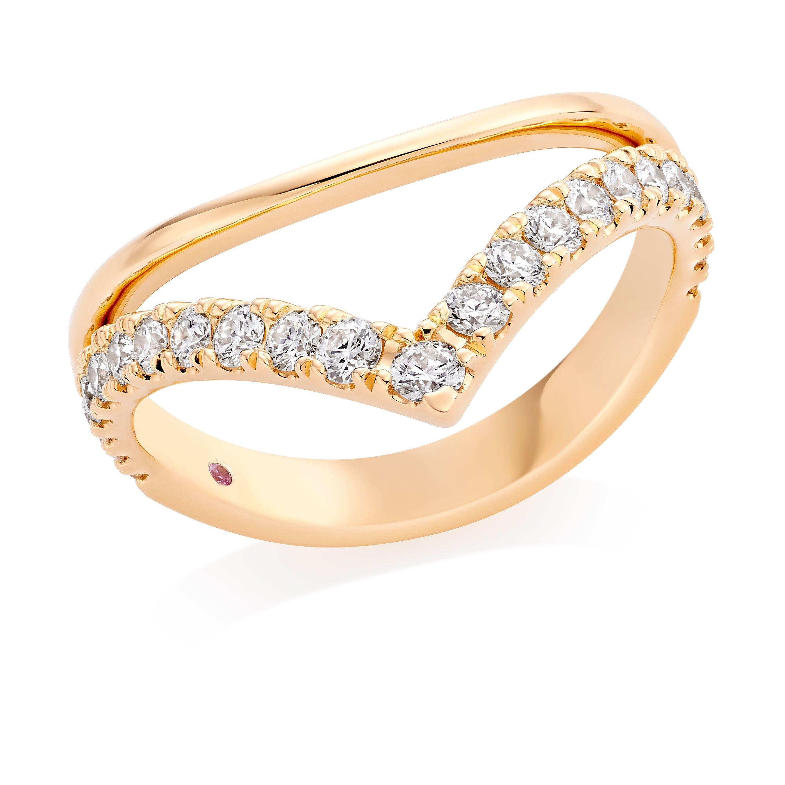 Hearts On Fire Hayley Paige Harley 18ct Gold Diamond Shaped Ring