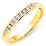 9ct Gold Half Eternity Diamond Ring