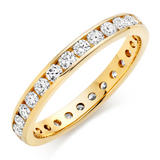 18ct Gold Diamond Full Eternity Ring