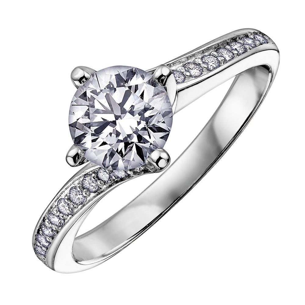 Maple Leaf Diamonds Twist 18ct White Gold Diamond Ring