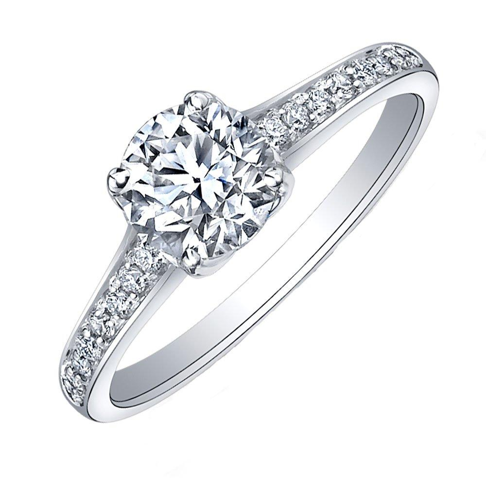 Maple Leaf Diamonds Eternal Flame 18ct White Gold Diamond Solitaire Engagement Ring
