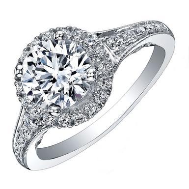 Maple Leaf Diamonds Tides of Love 18ct White Gold Diamond Halo Ring