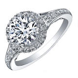 Maple Leaf Diamonds Tides of Love 18ct White Gold Diamond Halo Ring