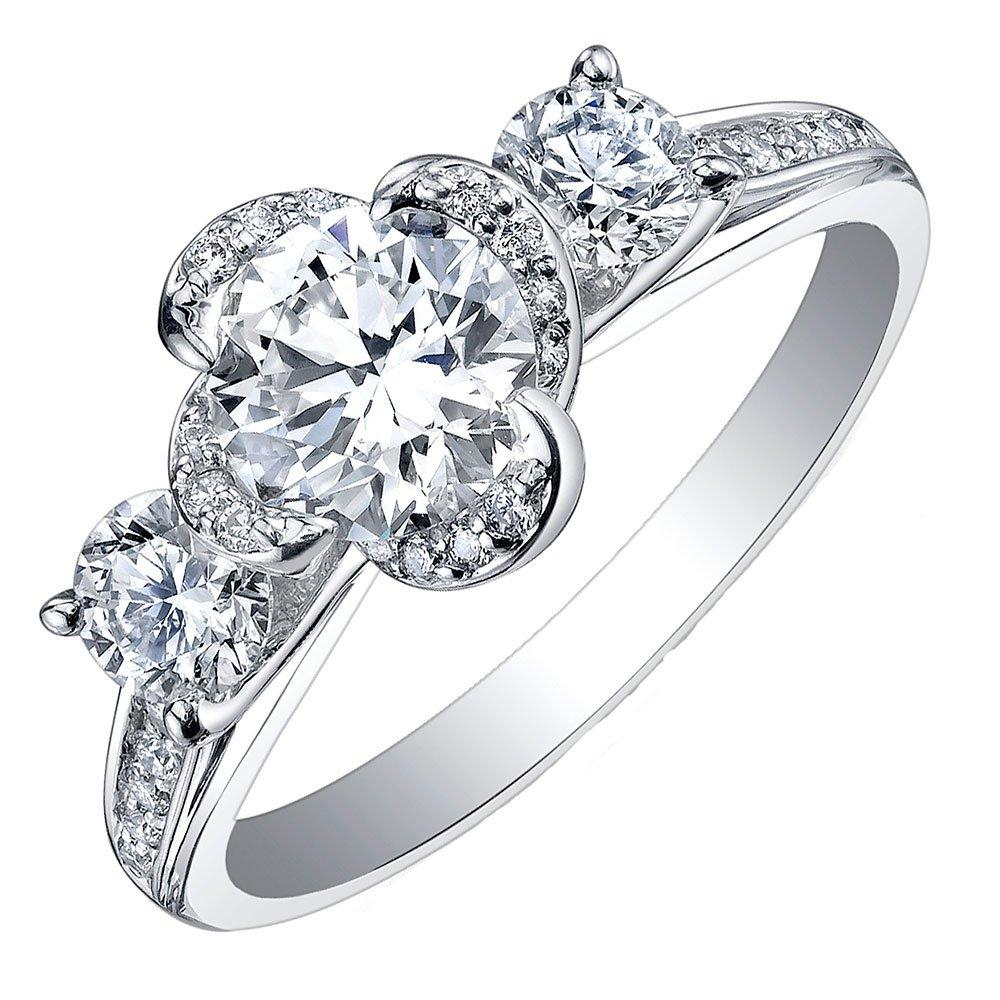 Maple Leaf Diamonds Wind's Embrace 18ct White Gold Diamond Three Stone Engagement Ring