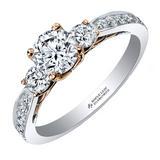 Maple Leaf Diamonds 18ct Two-Colour Gold Diamond Three Stone Engagement Ring