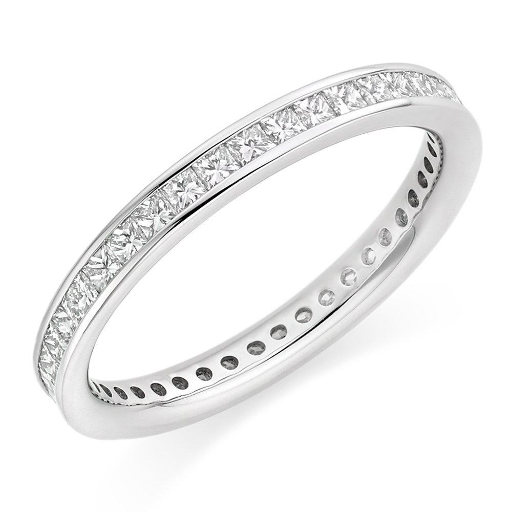 Platinum Diamond Princess Cut Eternity Ring