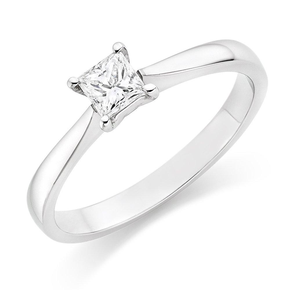 Platinum Diamond Solitaire Ring