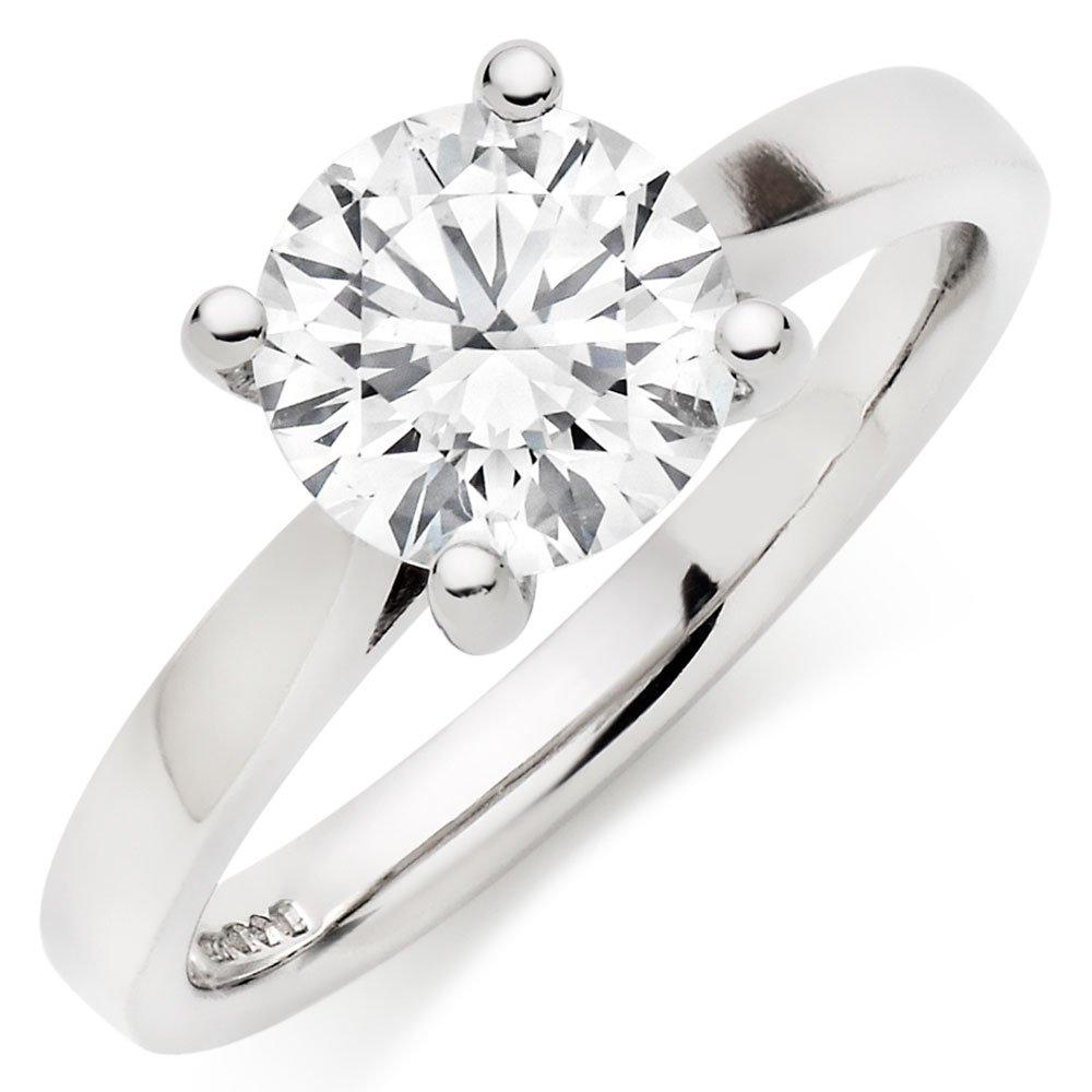 Once Platinum Diamond Solitaire Engagement Ring