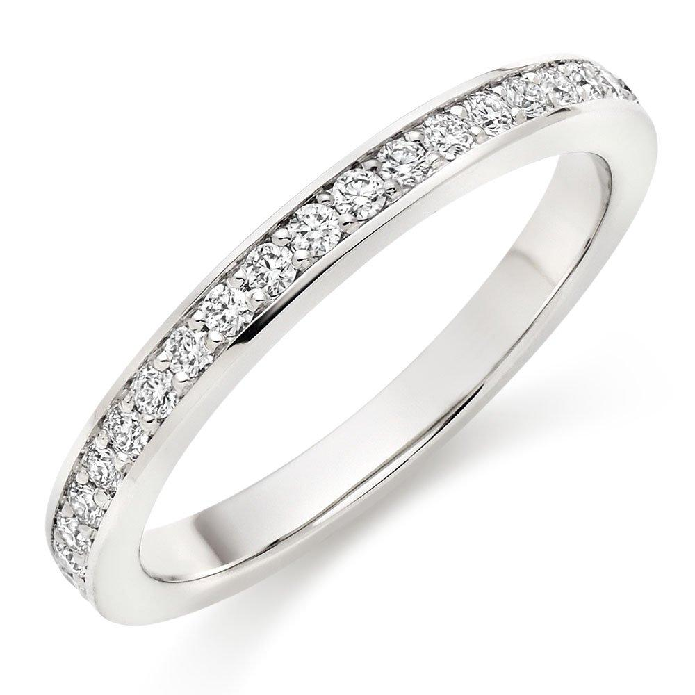 Hearts On Fire Enticement Platinum Diamond Half Eternity Ring