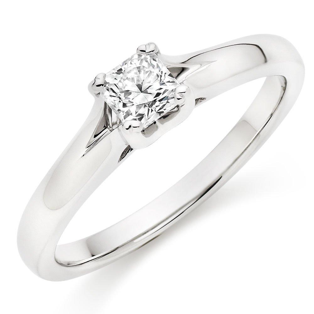 Hearts On Fire Seduction Platinum Diamond Princess Cut Solitaire Ring