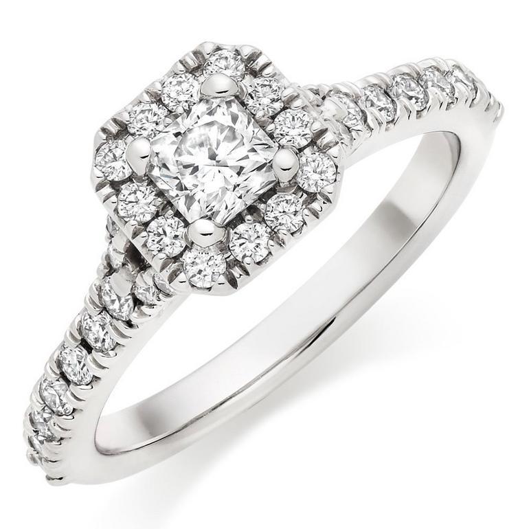 Hearts On Fire Transcend Platinum Diamond Ring