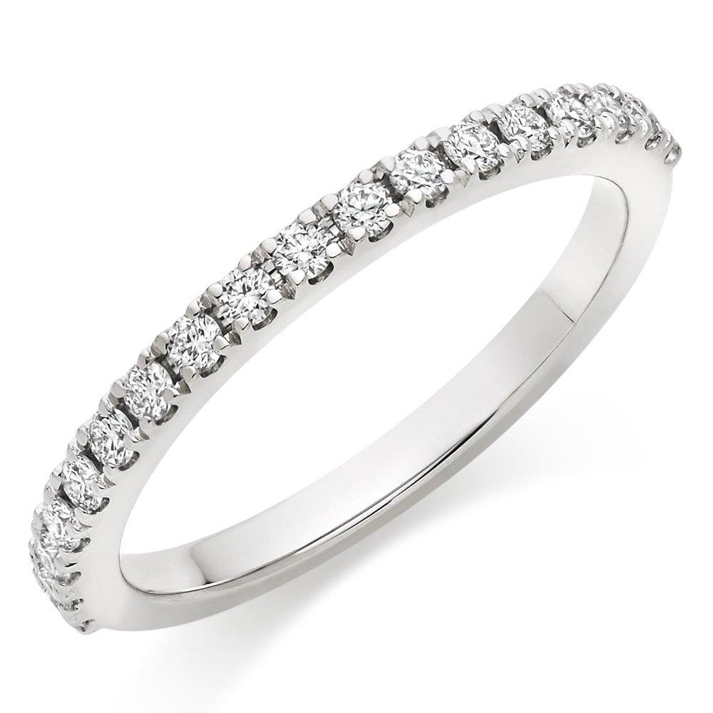 Hearts On Fire Transcend Platinum Diamond Half Eternity Ring