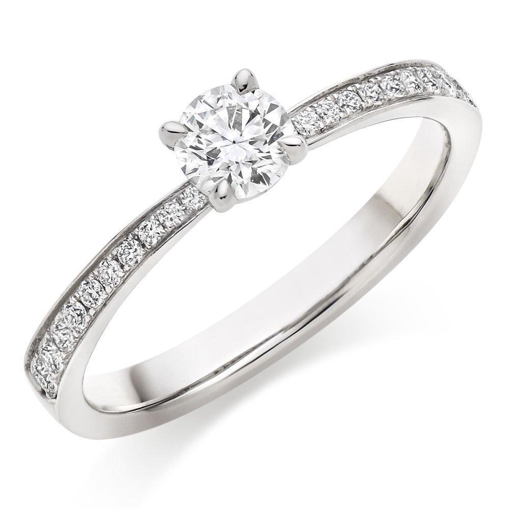 Hearts On Fire Signature Platinum Diamond Engagement Ring