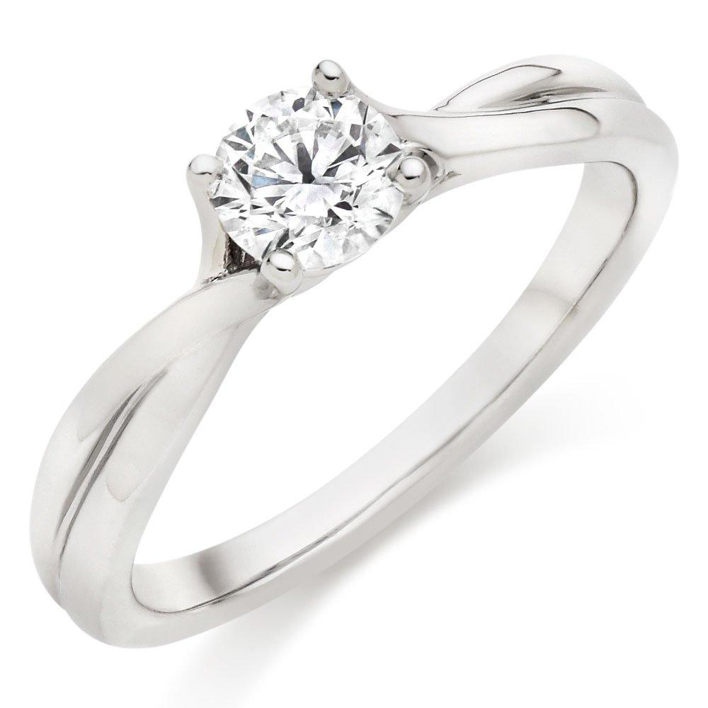 Hearts On Fire Simply Bridal Platinum Diamond Solitaire Ring