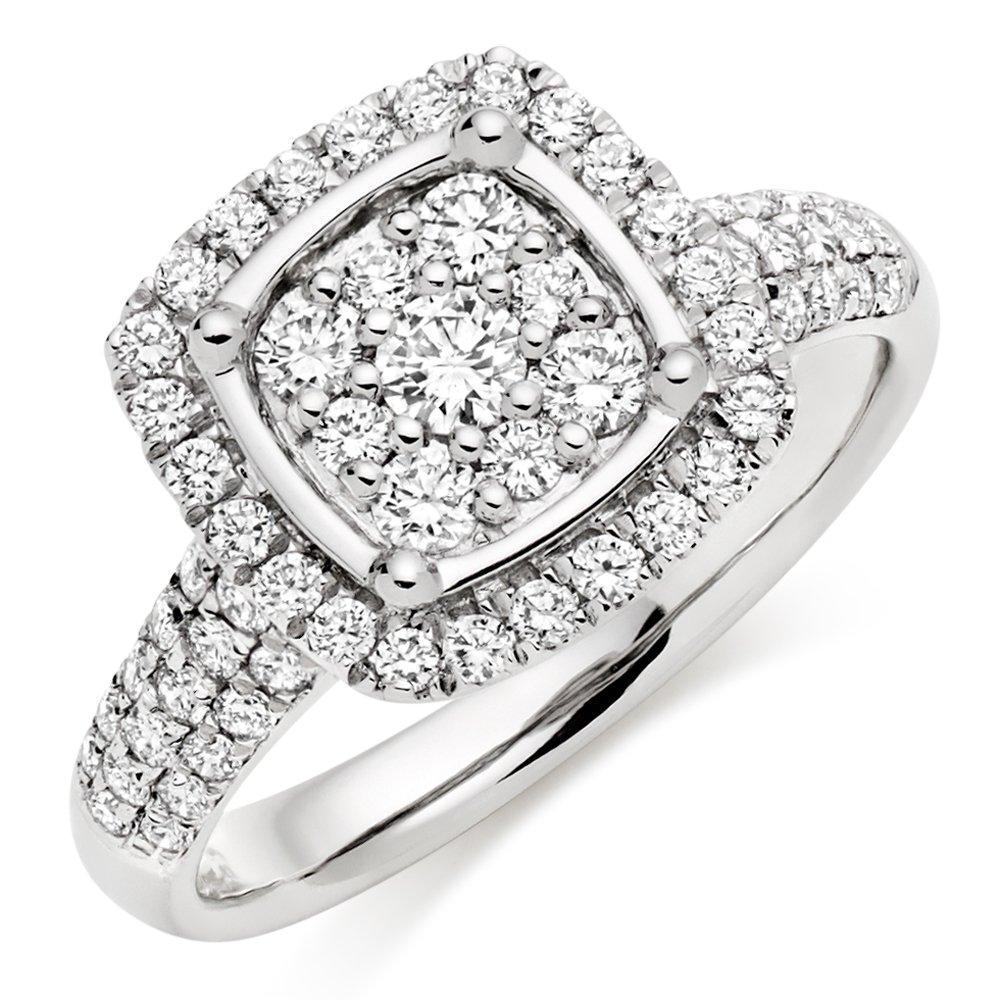Platinum Diamond Cluster Ring