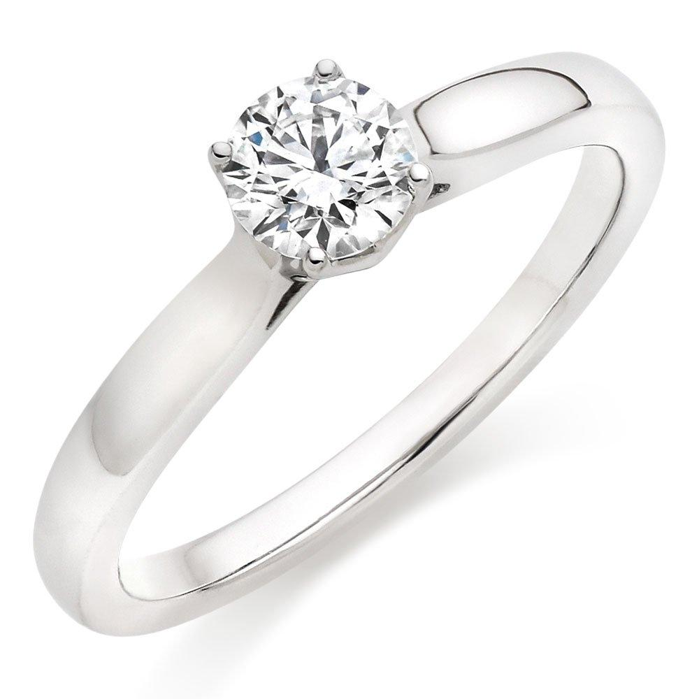 Hearts On Fire Simply Bridal Leaf Platinum Diamond Solitaire Engagement Ring