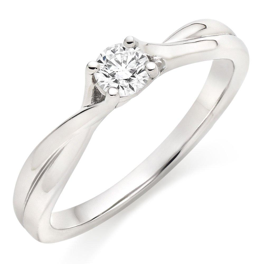Hearts On Fire Simply Bridal Twist Platinum Diamond Solitaire Engagement Ring
