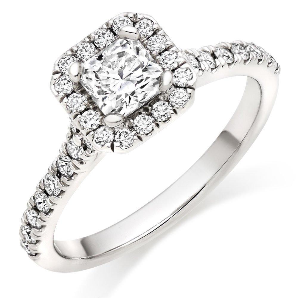 Hearts On Fire Transcend Premier Dream Platinum Diamond Halo Engagement Ring