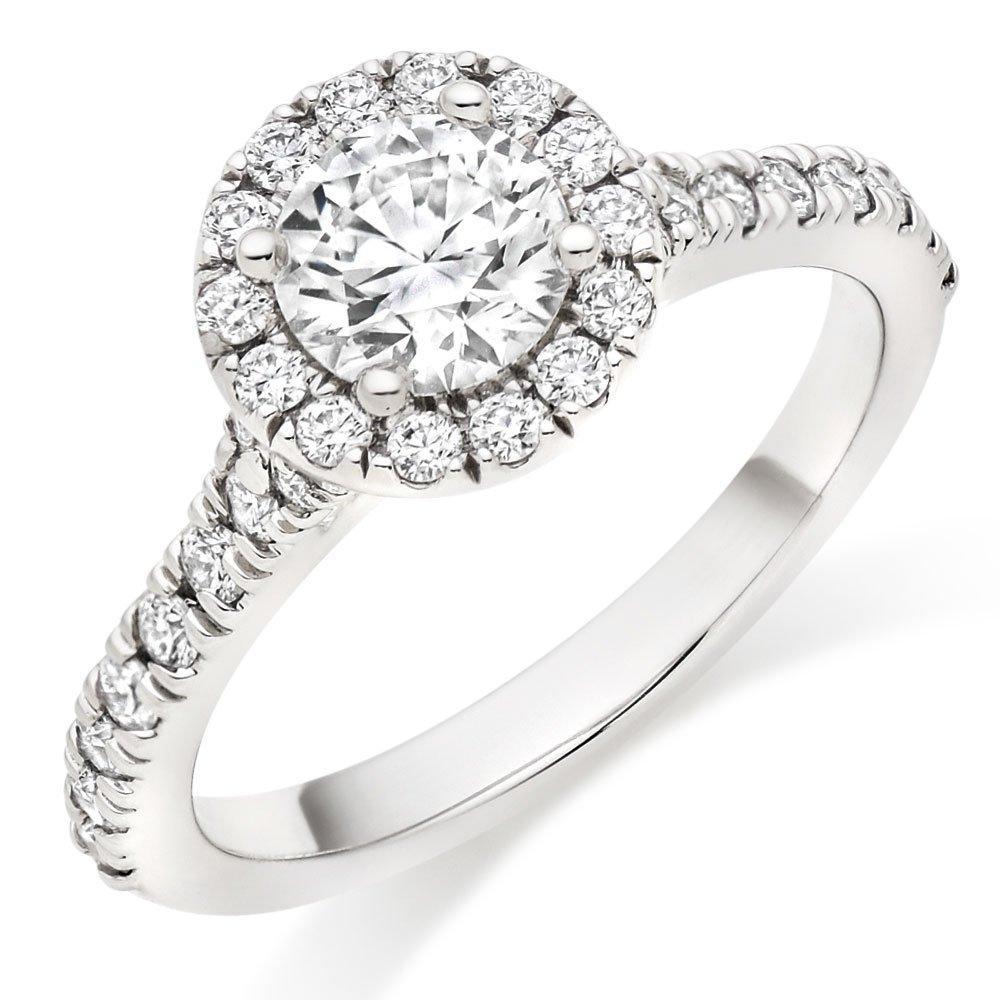 Hearts On Fire Transcend Platinum Diamond Halo Ring