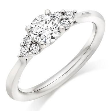 Hearts On Fire Felicity Platinum Diamond Cluster Ring