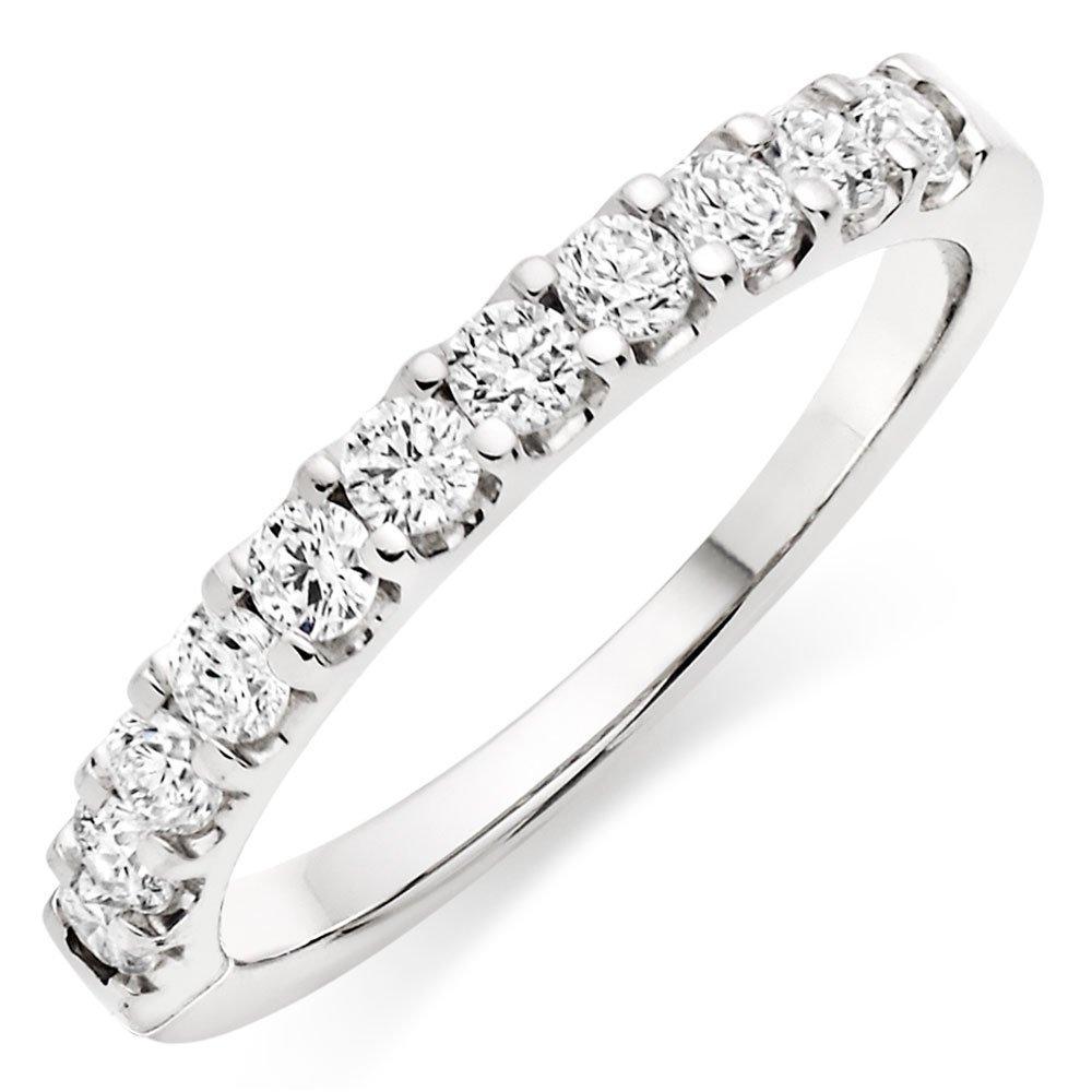 Platinum Diamond Half Eternity Ring