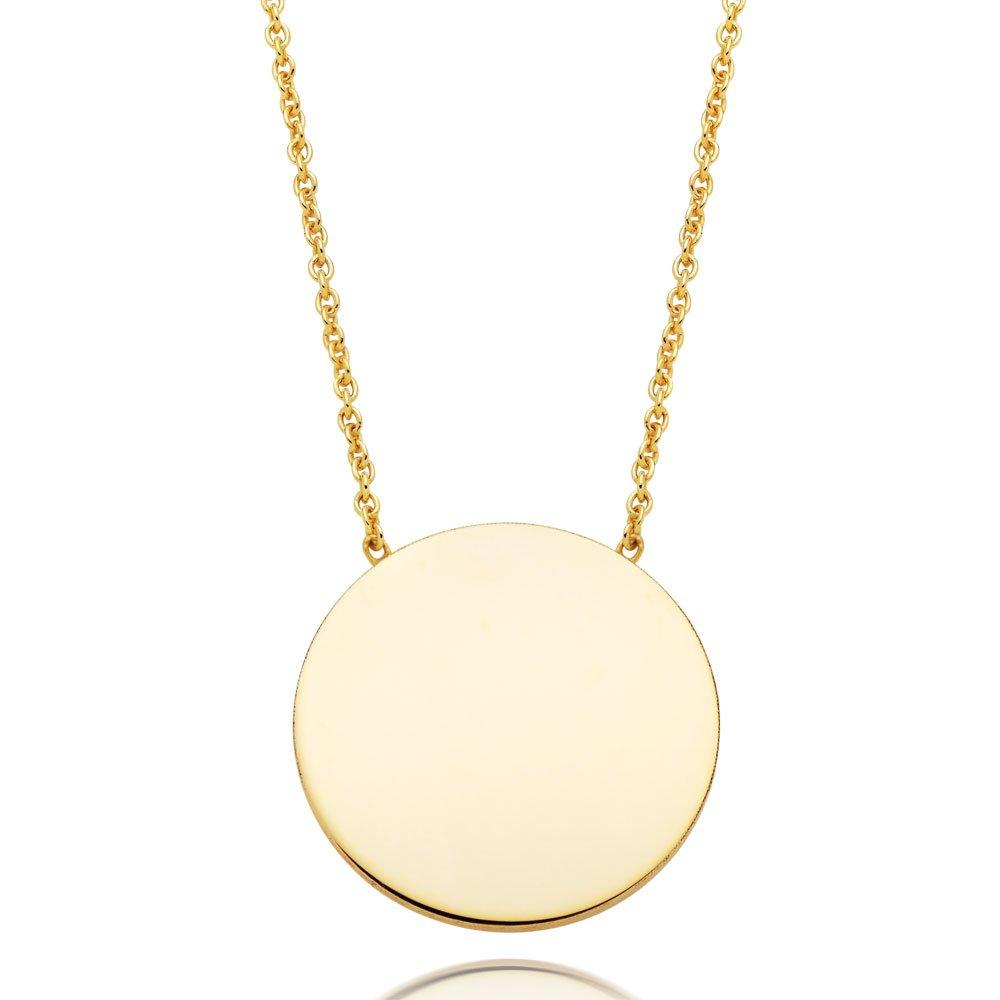 9ct Gold Disc Necklace