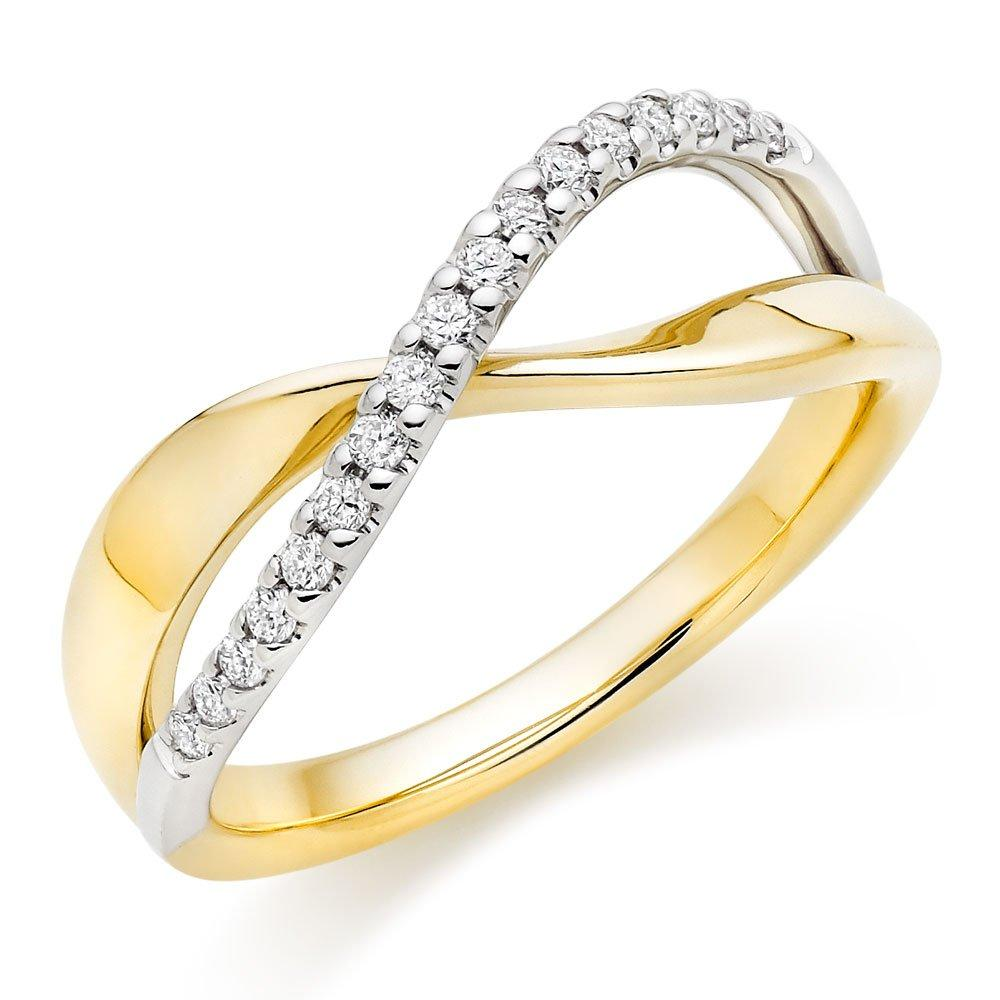 Era Infinite 9ct Gold and White Gold Diamond Ring