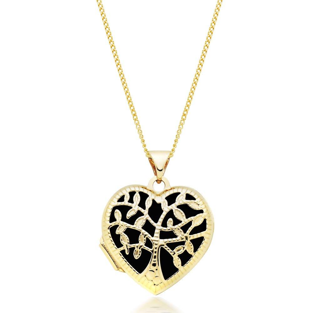 9ct Gold Tree Heart Locket