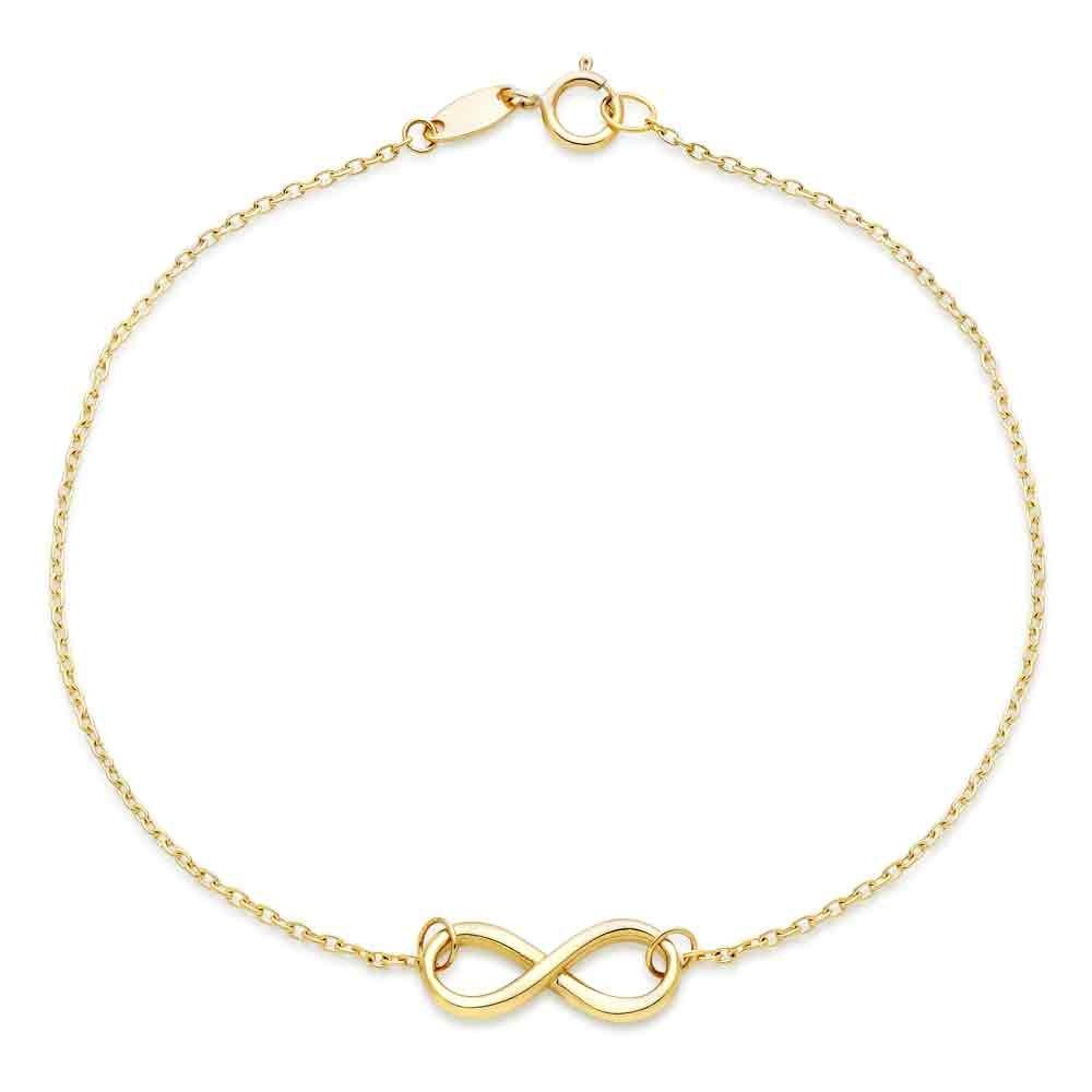 9ct Gold Infinity Bracelet