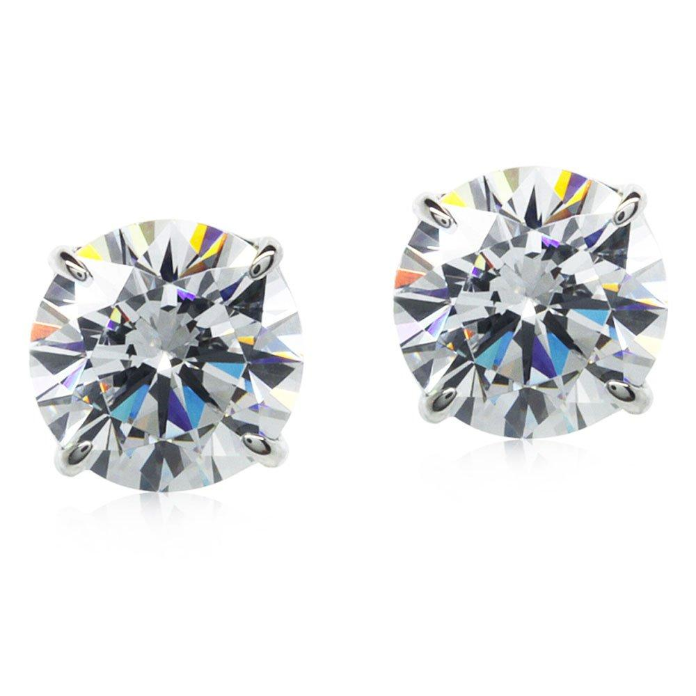 CARAT 9ct White Gold Brilliant Cut Stud Earrings