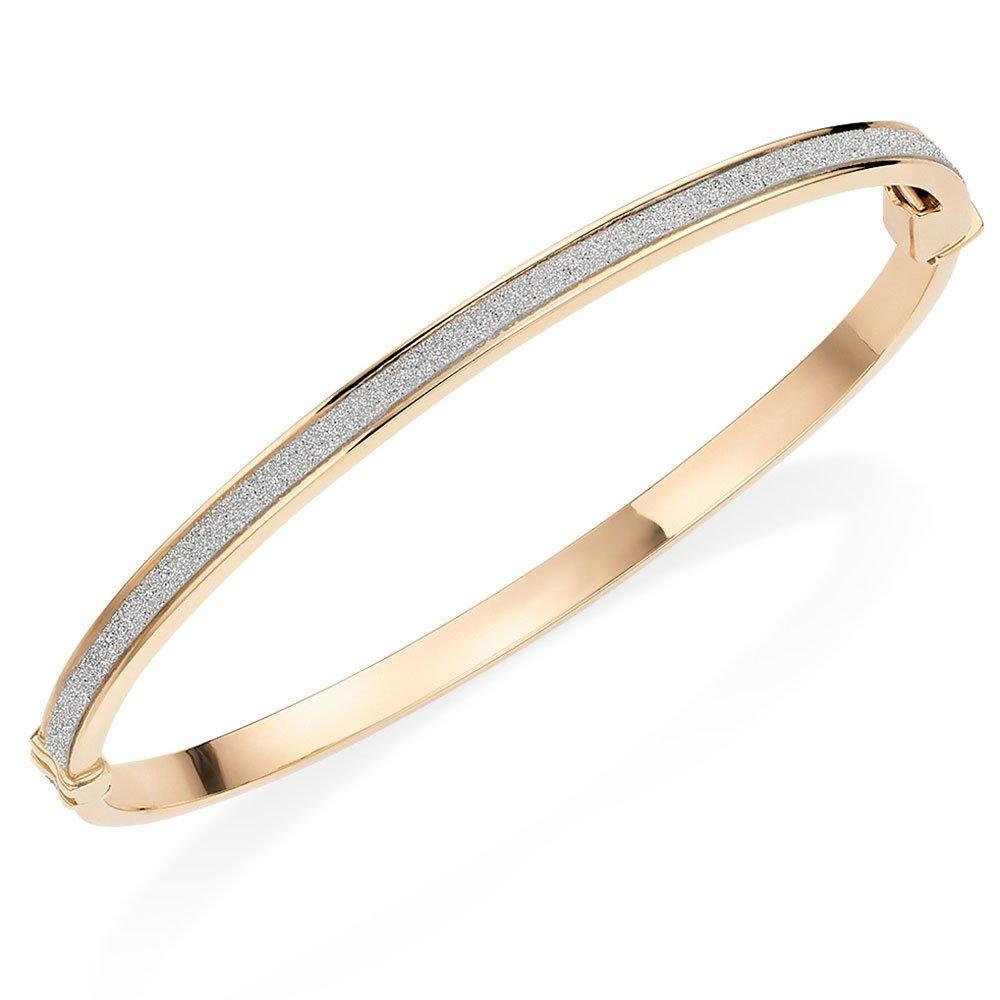 9ct Gold Glitter Bangle