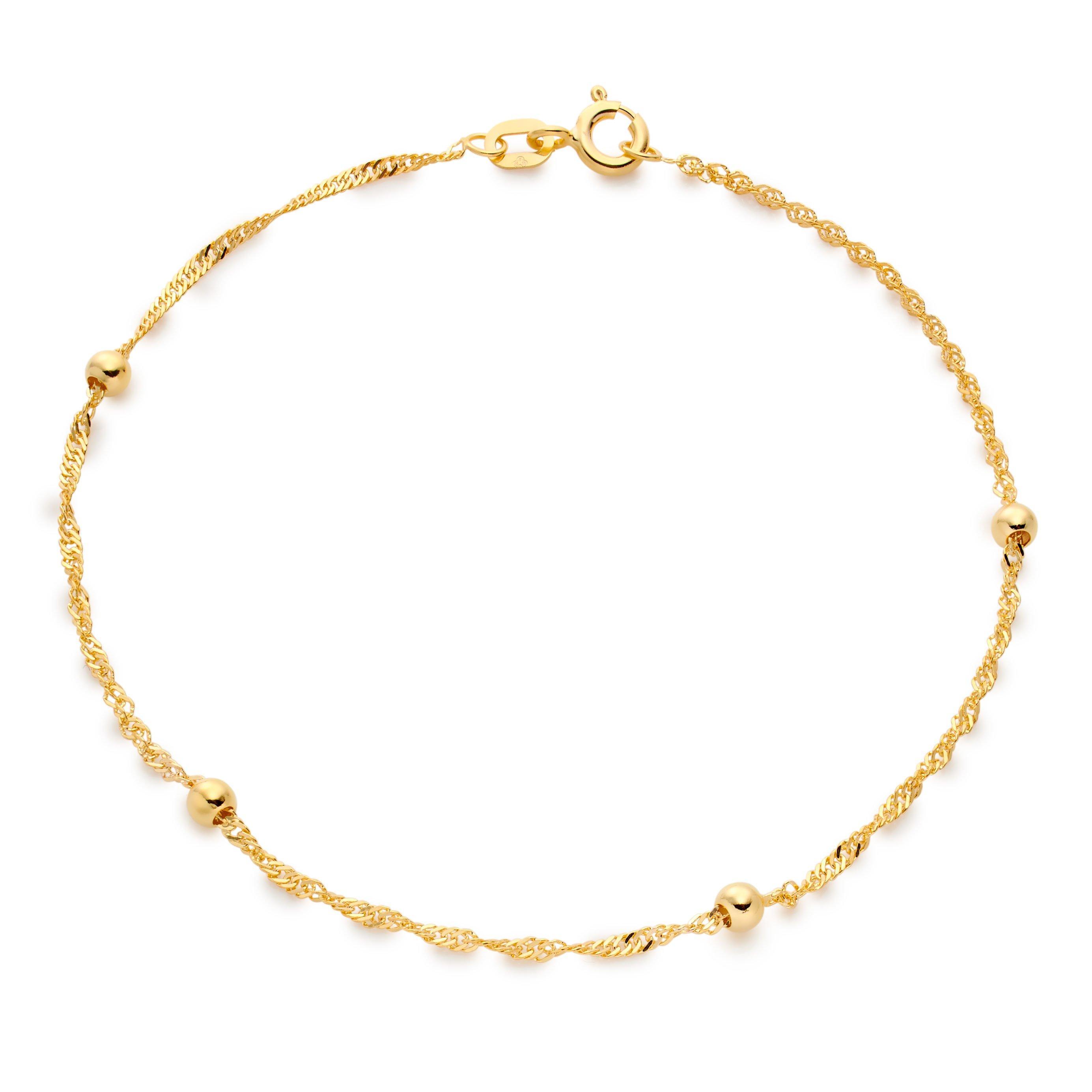 9ct Gold Bead Bracelet