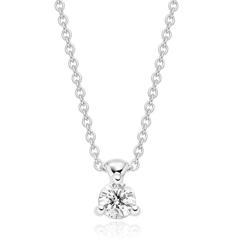Hearts On Fire Classic 18ct White Gold Diamoand Pendant